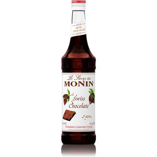 MONIN CHOCOLATE SWISS Chocolate, 750 ml - Dark Chocolate Organic Swiss