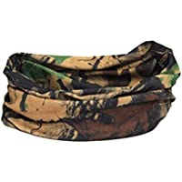 Brown Forest Camouflage Print Multi Function Tubular Snood Infinity Scarf