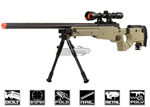 Well Full Metal MB08 Bolt Action Sniper Rifle (Tan/Scope - Sniper Rifle Metal