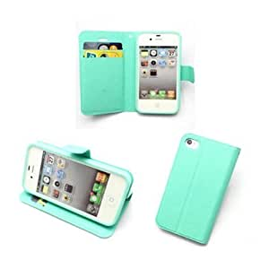 Andre-case Fashion PU leather Wallet Credit Card flip stand case cover for iPhone 5s Green tX5g2vB5sJi3