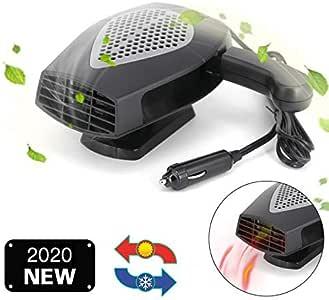 ROYADVE 12V Portable Car Heater & Fan Cooller Defrost Defogger Space Automobile 3-Outlet Plug Adjustable Thermostat Fast Cooling & Heating