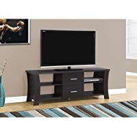 Monarch I 2683 TV Stand with 2 Drawers, 60, Cappuccino