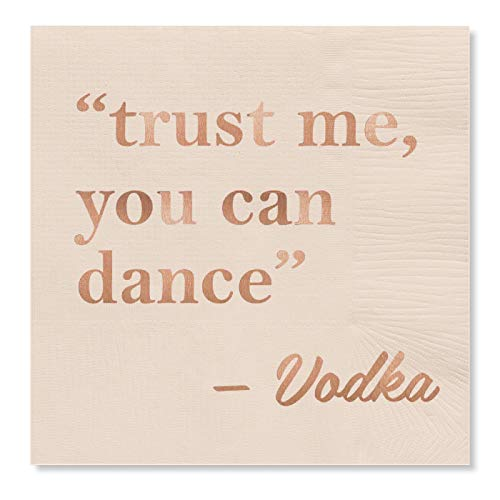 C.R. Gibson ''Trust Me, You Can Dance -Vodka'' Funny Beverage Napkins, 20 ct., 5'' x 5'' (Best Party Drinks With Vodka)