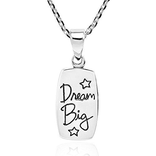 Message Sterling Argent Big' Motivante 925 En Collier 'dream 7FqwFzExv