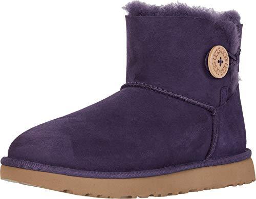 UGG Women's Mini Bailey Button II Nighshade 9 B US (Purple Woman Ugg Boots)