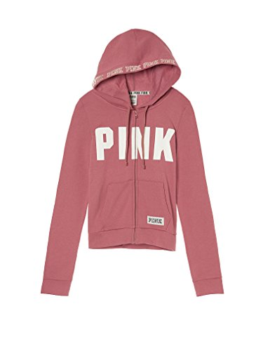 Victoria's Secret Pink Perfect Zip Hoodie Soft Begonia Small