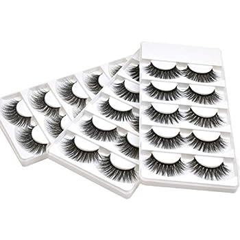 2784e8b4759 Wleec Beauty 3D Faux Mink False Lashes Handmade Dramatic Eyelash Pack Long  Crisscross Fake Eyelashes #3D/18 (15 Pairs/3 Pack)