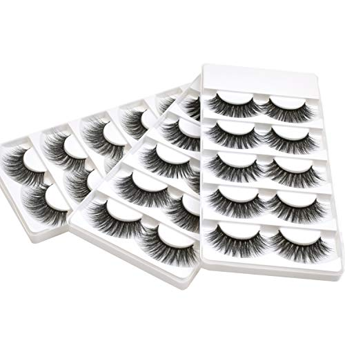 Wleec Beauty 3D Faux Mink False Lashes Handmade Dramatic Eyelash Pack Long Crisscross Fake Eyelashes #3D/18 (15 Pairs/3 Pack)