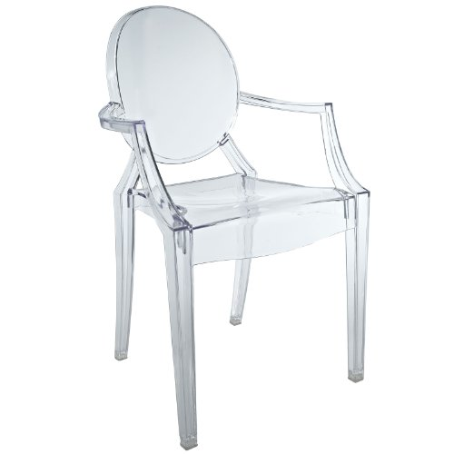 Modway Casper Kids Chair in Clear by Modway