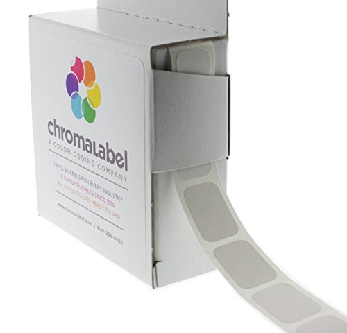"1/2"" x 3/4"" White Square Color-Coding Stickers 