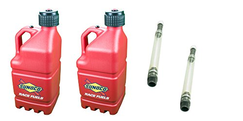 2-pack-sunoco-5-gallon-red-race-utility-jugs-and-2-deluxe-filler-hoses