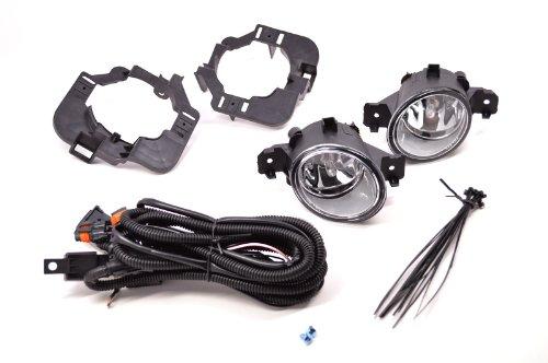 PCP Fog Lights For 07-09 Nissan Altima Sedan Clear Lens (Sedan Conversion Kit)