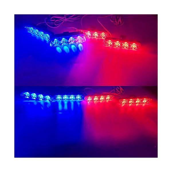 4x4 LED luz de advertencia estroboscópica DC12V intermitente de emergencia lámpara de baliza remoto inalámbrico advertencia estroboscópica luz externa de emergencia para camión caravana Camper 6