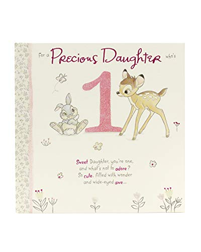 Disney Bambi and Thumper Daughter 1st Birthday Card ()