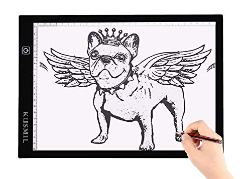 A4 LED Light Box Tracer Ultra-Thin Portable USB Power Cable Dimmable LED Artcraft Tracing Light Pad for Artists Drawing Sketching Animation X-ray Viewing