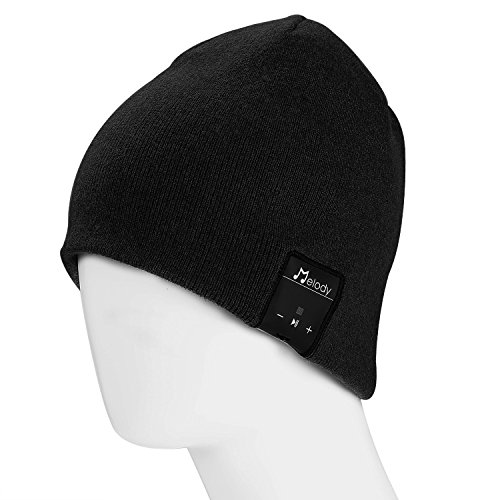 Bluetooth Beanie Hat, Pumice Stylish Wireless Music Beanie Hat Cap with HD Stereo Headphones Earphones Headset Speaker Mic Hands-Free Talking for Men Women Winter Outdoor Fitness Christmas (Halloween Power Hour Playlist)