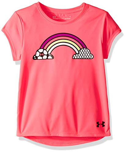 Under Armour Girls' Little Graphic Short Sleeve T-Shirt, Mojo Pink-S19, 5