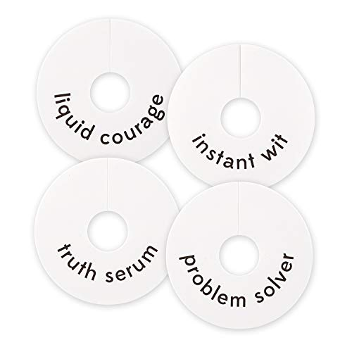(SB Design Studio F1452 Sips Recyclable White Paper Wine Glass Tags, 16-Count,)