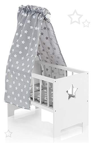 Babypuppen & Zubehör Bettzeug und Himmel aus Holz von howa 21301 Puppenbett incl Puppen & Zubehör