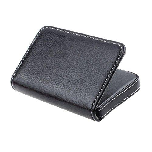 Card Holder, Kemilove Flip Style Leather Business Name Card Wallet / Holder Cards Case with Magnetic Shut (Black)