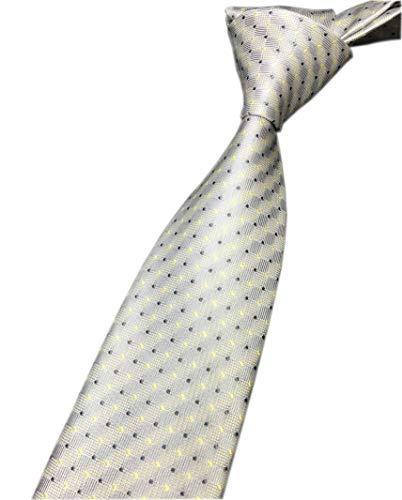 Black Necktie Mens Dots (Men's Kid Light Grey Yellow Ties Graduation Student Silk Designer Shirt Neckties)