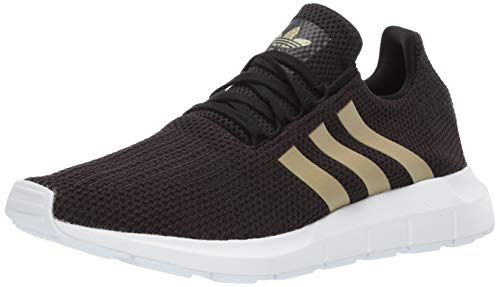adidas Originals Women's Swift Running Shoe Black/tech Silver Metallic/White 11 M ()