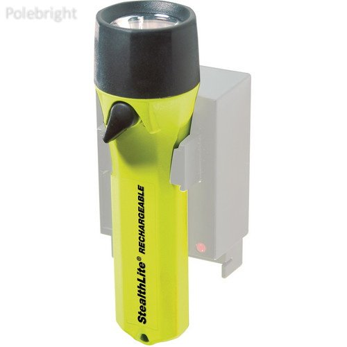 StealthLite 2450 Rechargeable Flashlight (Yellow)- Polebright Update (2450 Stealthlite Flashlight Rechargeable)