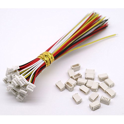 daier 20 Sets Mini Micro Sh 1.0 Jst 4-Pin Connector Plug Male with 100mm Cable & Female