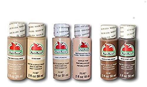 - Dark Flesh Tone Acrylic Paint Set
