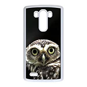 Owl in the Dark LG G3 Cell Phone Case White toy pxf005_5785144