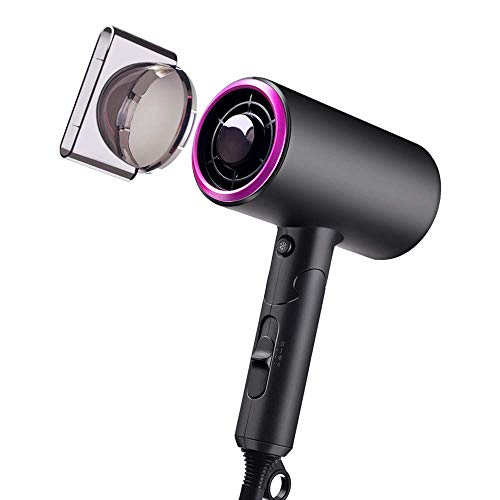 Portable Hair Dryer, JackMo Negative Ionic Low Noise Blow Dryers with Concentrator for Professional Salon Home Kids Pregnancy Use Purple