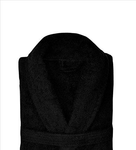 Suave Gorgeous Ladies Black True Micro Fibre Super Suave Sedoso Feel suave albornoz 12/14