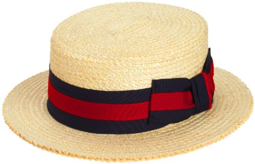 Scala Men's Dress Straw 1 Piece 10/11Mm Laichow Braid Boater Hat -