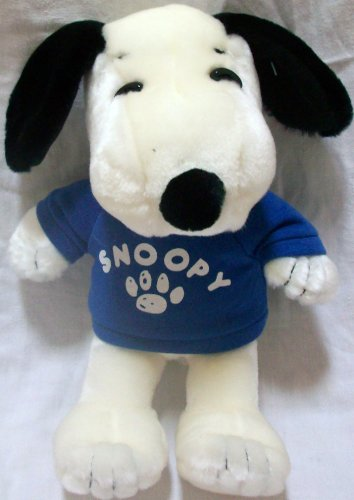 "UFS Peanuts Snoopy, 10"" Daisy Hill Snoopy in Blue Shirt Plush Stuffed Cuddly Soft Doll Toy from Peanuts"