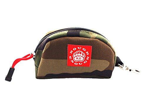 - Rough Enough Durable CORDURA Nylon Small Mini Portable Coin Wallet Bag Key Purse Change Organizer Case in Semicircle Half Moon Shape with Zipper Safty Clip for Kids Boys Men at Outdoors Sports