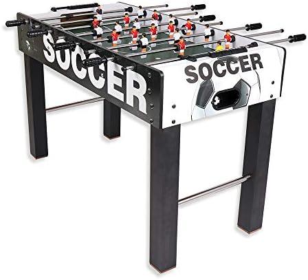 Juego de fútbol de mesa de madera, futbolín, sin apoyo, con 2 bolas: Amazon.es: Electrónica