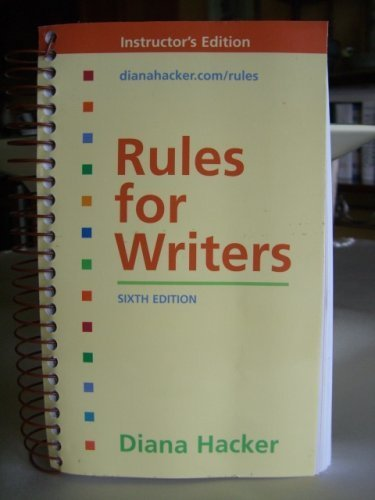 Rules for Writers 6e & Working with Sources Using APA Style & Work with Sources Using MLA Style