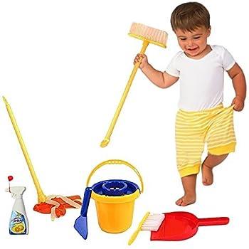 Amazon Com Childrens Cleaning Set Broom Dustpan Mini