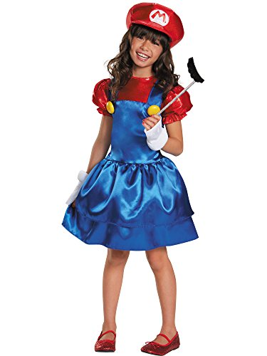 Mario Skirt Version Costume, Small (4-6x)]()