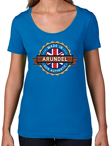 Made In ARUNDEL 100% Authentic - Womens Scoop Neck T-Shirt- 7 Colors Royal Blue - Arundel In Shops