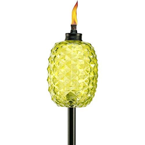 TIKI Brand 65-Inch Aloha Pineapple Glass Torch, Green