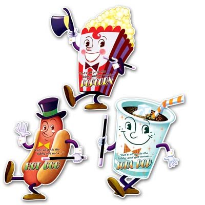- Movie Night Cutouts 3pc. (3/Pkg)