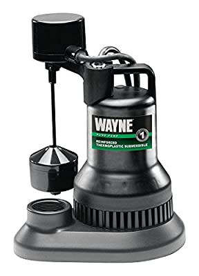 WAYNE WSF50 1/2 HP Thermoplastic Sump Pump With Vertical Float Switch