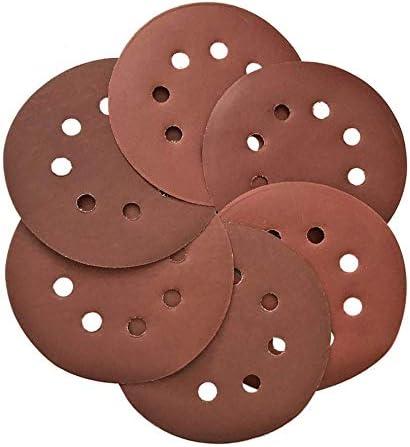 60Pcs 125mm Fine Sanding Discs Pads 600-2000 Grit Mix Orbital Sand Paper Loop