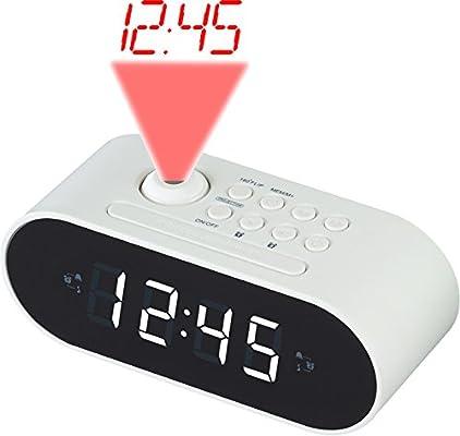 Denver CRP-717WHITE Reloj Analógica Blanco - Radio (Reloj ...