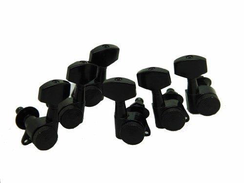 Auto Locking Chrome 3+3 Locking Tuners Rear Thumbwheel Locks Black high - Ltd Tuners Locking
