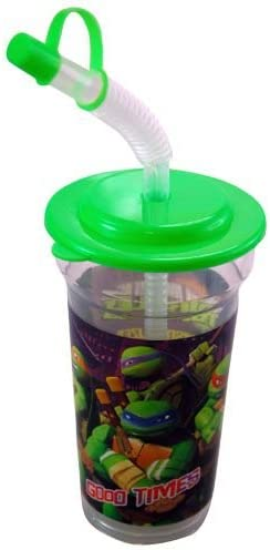 TMNT Ninja Turtle 14 oz Sport Tumbler with Lid and Straw