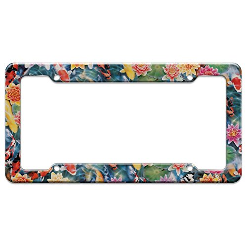 (Graphics and More Koi Pond Fish Garden Pattern License Plate Tag Frame)