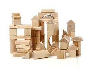 BRIO® 30146  - Niño BRIO - 50 piezas de bloques de madera (la naturaleza) - Línea Verde