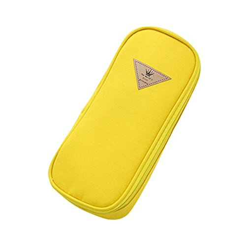Funny liveContracted Candy Color Large Capacity Multifunction Pencil Case (yellow)